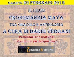 Cronomanzia Maya – Sabato 20 febbraio